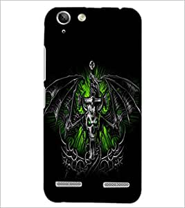PrintDhaba Skull and Bat D-1161 Back Case Cover for LENOVO VIBE K5 (Multi-Coloured)
