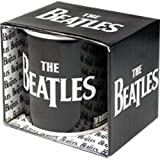 The Beatles Logo Official Black Mug Amazon.com