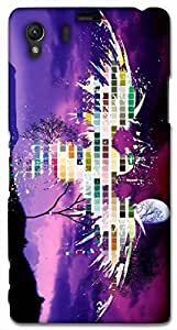 Timpax protective Armor Hard Bumper Back Case Cover. Multicolor printed on 3 Dimensional case with latest & finest graphic design art. Compatible with Sony L39H - Sony 39 Design No : TDZ-26870