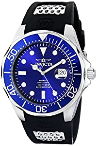 """Invicta Men's 11752 """"Pro Diver"""" Stainless Steel Automatic Watch with Polyurethane Strap"""