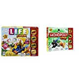 The Game of Life Junior Game and Monopoly Junior Board Game Bundle