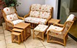 Home & Garden Direct Bali Standard Cane Conservatory Suite, Sofa & 2 Chairs