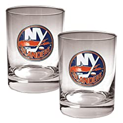 NHL New York Islanders Two Piece Rocks Glass Set