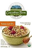 Cascadian Farm Organic Honey Nut O's Cereal, 10.4-Ounce Box (Pack of 4)