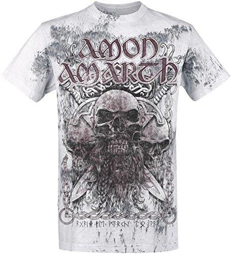 Amon Amarth Beardskulls T-Shirt grigio chiaro L