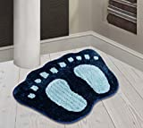"Yellow Weaves Microfiber Door Mat - 16"" x 24"", Blue"