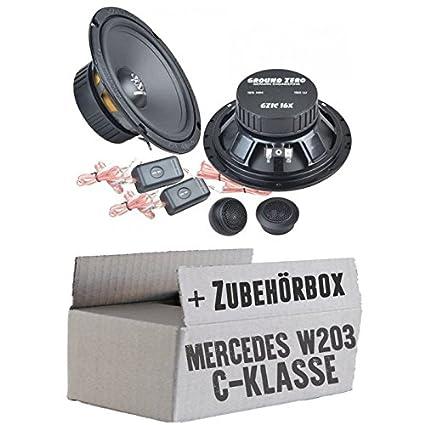 Mercedes classe C W203-Ground Zero GZIC 16x-16cm Système de haut-parleur avant-Kit de montage