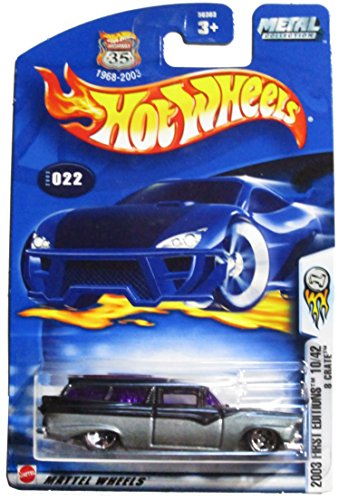 Hot Wheels 2003 First Editions 10/42 8 Crate #022 on Card Variation - 1