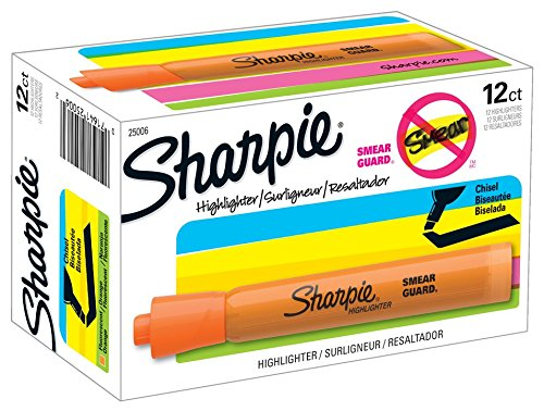 sharpie-tank-style-highlighters-chisel-tip-fluorescent-orange-box-of-12