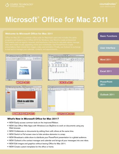 Microsoft Office 2011 for Mac Coursenotes