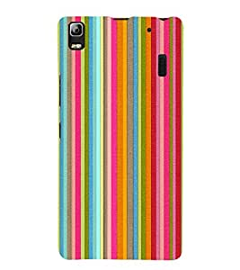 Colorful Line Pattern 3D Hard Polycarbonate Designer Back Case Cover for Lenovo K3 Note