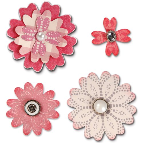 Sizzix Bigz Die Flower Layers with Heart Petals by Eileen Hull