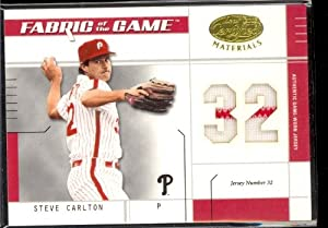 03 Leaf Certified Steve Carlton Jersey Card 07/32