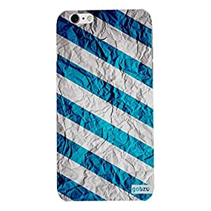 Gobzu Printed Back Covers for iPhone 6 Plus / iPhone 6S Plus - Slant- Blue
