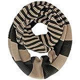 Luxury Divas Knit Striped Infinity Scarf