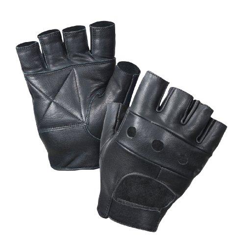 Black Leather Gloves For Men Men's Leather Biker Gloves