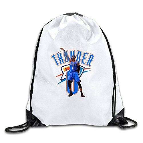 JADR Custom Russell 0# Westbrook Basketball Player Comfortable Teenager Bag White