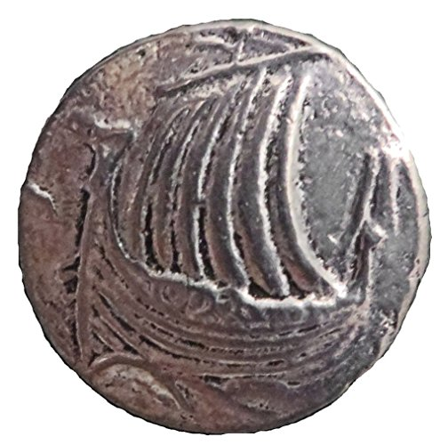 Viking Ship Pewter Button (Card of 4) 3/4""