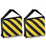 Neewer® ブラック/イエロー耐久サンドバッグ 写真撮影スタジオビデオステージフィルムサンドバッグ サドルバッグ ライトスタンドブームアーム三脚に適用 (2個)