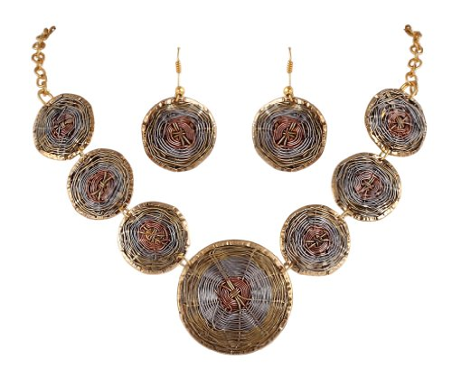 Sharnam Art Tribal / Ethnic master piece Necklace in Golden Plated
