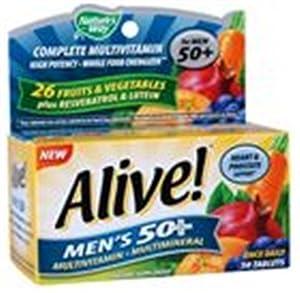 Alive Men's 50+ Multivitamin - Multimineral Nature's Way 50 Tabs