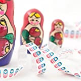 1M Russian Doll Print Ribbon 15mm by Berisfords Decorative Ribbon For Gift Wrapping Card Making Crafts and Scrapbooking