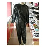 Factorykiss Black Unisex Sauna Sweat Suit Gym Workout Yoga Exercise Trim Slimmer Boxing Size XL