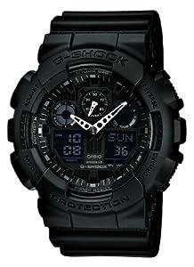 Casio - GA-100-1A1ER - G-shock - Montre Homme - Quartz Analogique et Digitale - Cadran Noir - Bracelet en Résine Noir de Casio