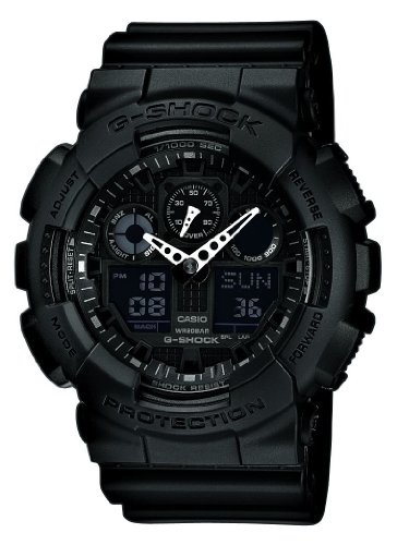 Casio Men's Combi Watch Ga-100-1A1Er with G-Shock Resin Strap