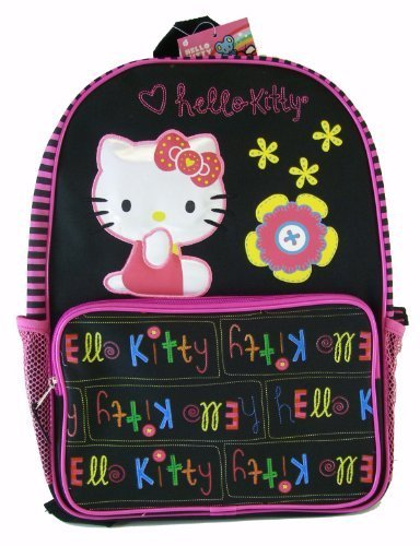 Sanrio Hello Kitty School Backpack – Full Size Kitty Backpack (Black)