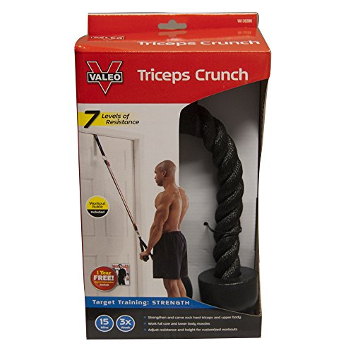 Valeo Triceps Crunch Rope (Black, one Size)