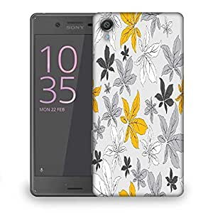 Snoogg Colorful Leaves Designer Protective Phone Back Case Cover For Sony Xperia X Dual