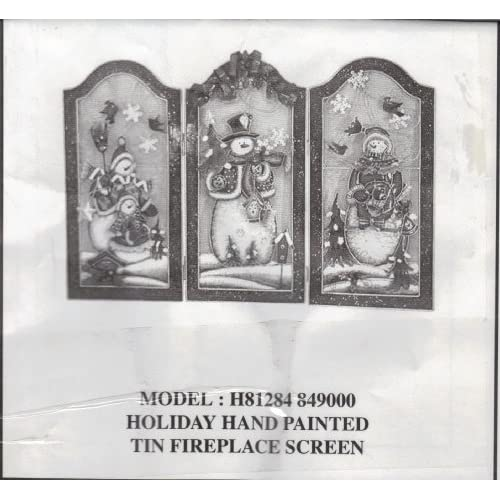Amazon Com Holiday Hand Painted Tin Fireplace Screen