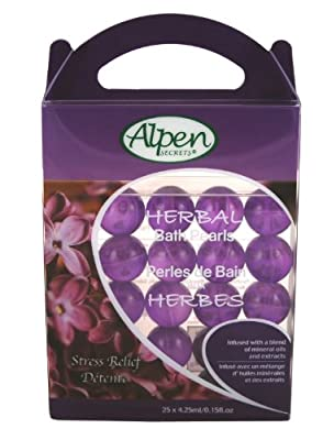 Best Cheap Deal for Alpen Secrets Herbal Therapy Stress Relief Bath Pearls, 25 x 4.25 ml/0.15 fl. oz Boxes (Pack of 3) from Alpen Secrets - Free 2 Day Shipping Available
