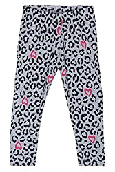 Chalk by Pantaloons Girl's Regular Fit Legging (205000005609116, Grey, 3-4 Years)