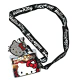 Sanrio Hello Kitty Lanyard keychain Holder Face Bling Charm and ID Holder