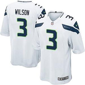 Buy Russell Wilson #3 Seattle Seahawks White Jersey 40 (M) by ON-FIELD