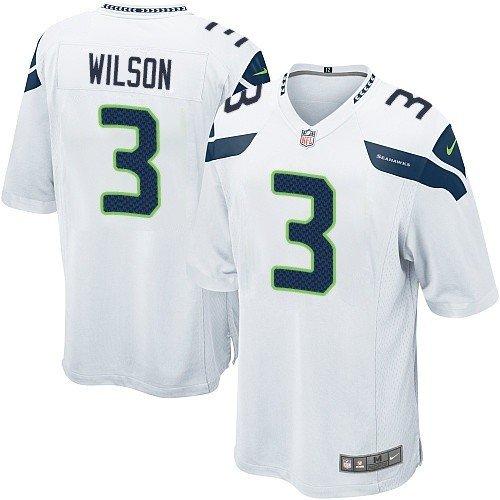 Russell Wilson #3 Seattle Seahawks White Jersey 40 (M) by ON-FIELD