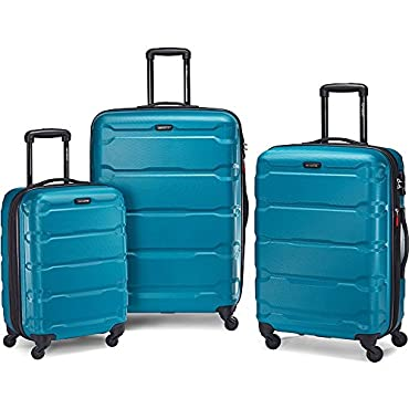 Samsonite Omni Hardside Luggage Nested Spinner Set 20, 24, 28 (Caribbean Blue)