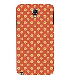 ETHNIC TRADITIONAL BLOCK PRINTING PATTERN 3D Hard Polycarbonate Designer Back Case Cover for Samsung Galaxy Note 3 Neo N7505