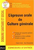L'preuve orale de culture gnrale : Concours AS/AP/AMP