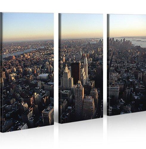 Nyc 3 quadri moderni su tela pronti da appendere for Quadri ufficio ikea
