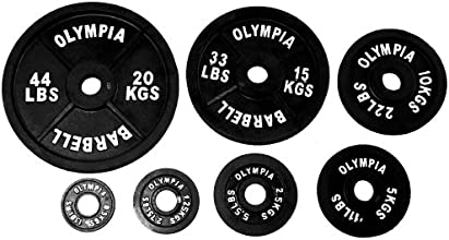 Black Olympic Plates- 20kg 44lb Sold As Pair 2 PiecesPICTURE FO RREFERENCE ONLY