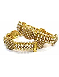 Shingar Jewellery Ksvk Jewels Antique Gold Plated Bangles Set For Women (5985-m-2.6)