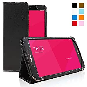 Snugg Galaxy Tab 3 8.0 Case - Smart Cover with Flip Stand & Lifetime Guarantee (Black Leather) for Galaxy Tab 3 8.0