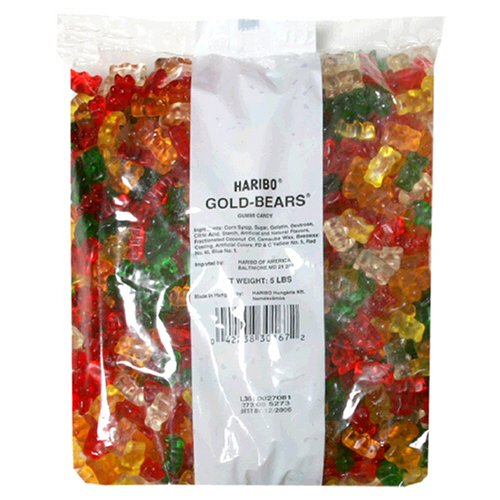 Haribo Gummi Candy Gold-Bears, 5-Pound Bag