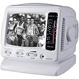 """Spectra 52-BWR-W 5"""" Portable B&W Television w/ AM/FM Radio"""