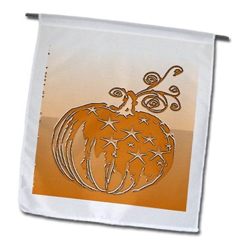 Lee Hiller Designs Holidays Halloween - Plaster embossed Print Pumpkin - 18 x 27 inch Garden Flag (fl_19839_2)