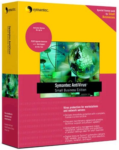 Symantec Antivirus Small Business Edition 8.0 For Workstations & Network Servers 5 Pack