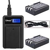 TOP-MAX 2X EN-EL9 EN-EL9a Rechargeable Li-ion Battery + USB Charger MH-23 for Nikon D40 D40x D60 D3000 D5000